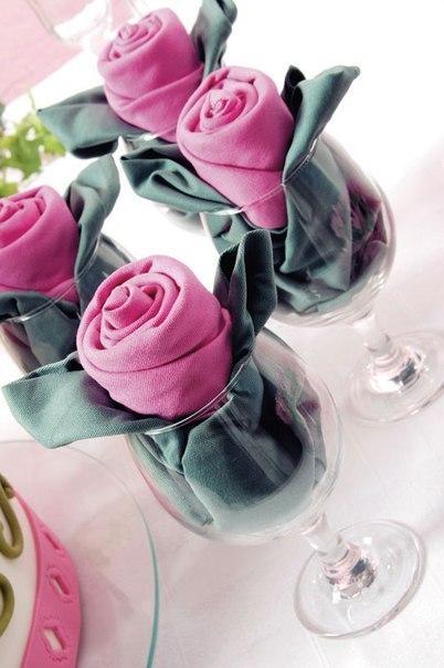 Como-doblar-servilletas-de-tela-como-una-rosa